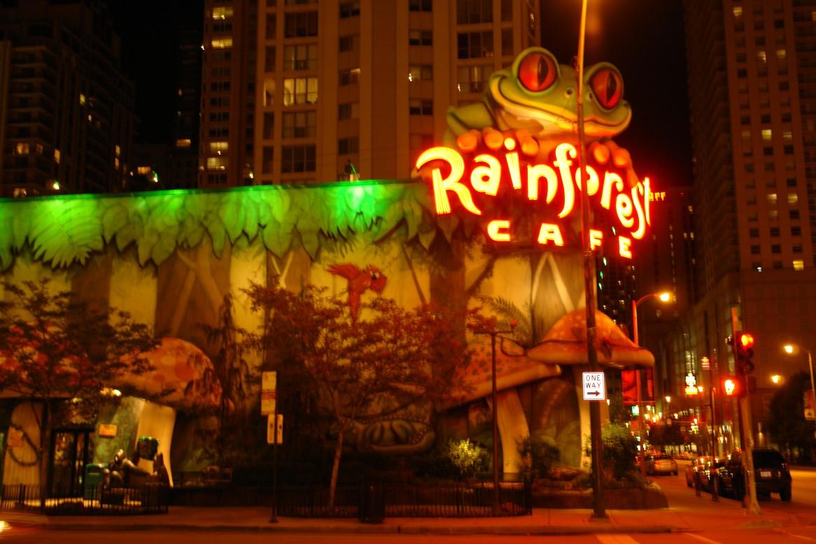 Chicago Rainforest Cafe Parking